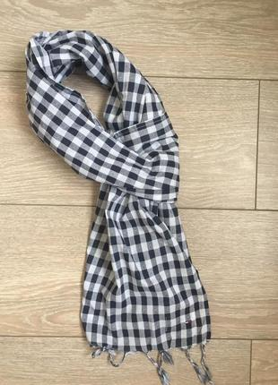 Хлопковый шарф tommy hilfiger
