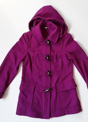 Шестяное пальто фуксия
