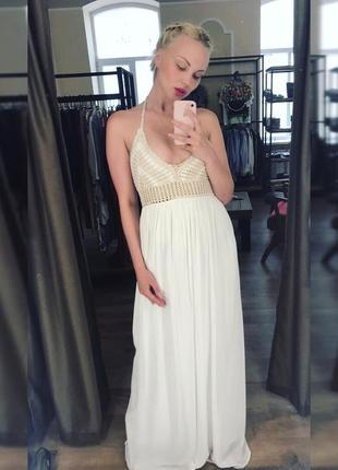 Длинное платье от zara