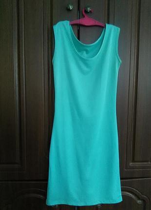 Красивое летнее платье мята