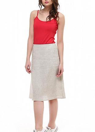 Элегантная льняная юбка а-силуэта 55 % лен!!!