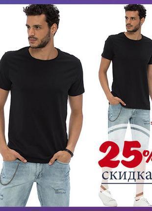Мужская футболка черная lc waikiki / лс вайкики базовая черня футболка