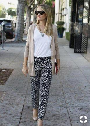 Фирменные качественные стильные натуральные стрейчевые стройнящее штаны.