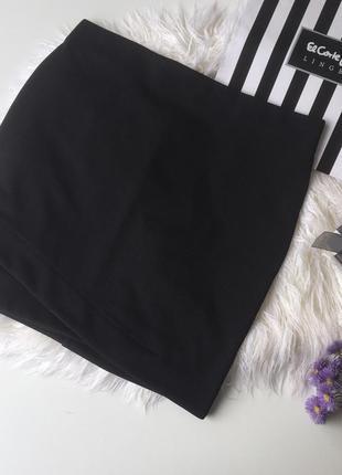 Чёрная мини юбка h&m