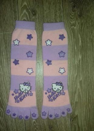Носки с пальчиками hello kitty
