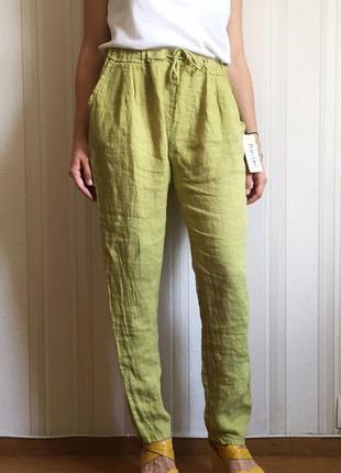 Льняные брюки s-m