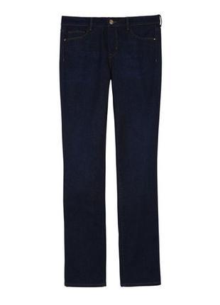 Стильные темные джинсы от mango/синие/прямые/тянутся/средней плотности