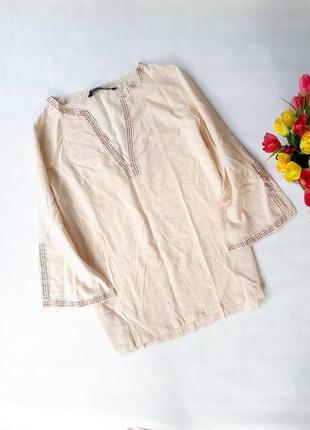 Рубашка zara 100%котон