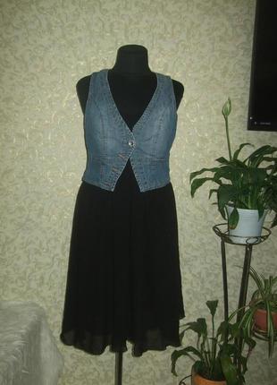 Оригинальноеплатье с жилетом geisha jeans