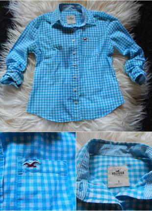 Hollister оригинал рубашка,стильная в клетку zara mango guess ralph lauren тонкая