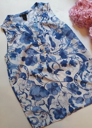 Блуза h&m в квітковий принт