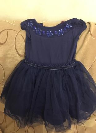 Синее платье в камнях ted baker на 2 года1