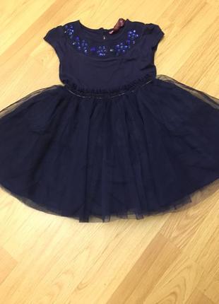 Синее платье в камнях ted baker на 2 года4