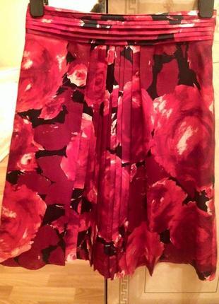 Шёлковая юбка massimo dutti