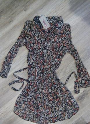 Классная шифоновая блуза, рубашка, тунийка