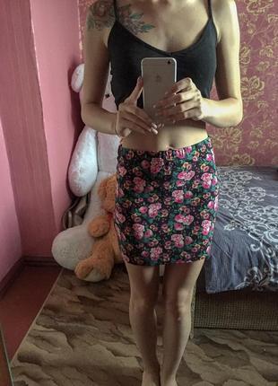 Мини-юбка в цветочек atmosphere