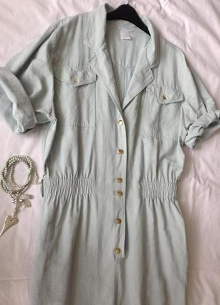 Цвет тиффани  платье оверсайз . m-l. винтаж. вискоза.