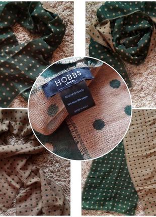 Hobbs шарф шерсть