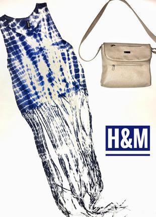 Крутейший топ с длинной бахромой майка футболка h&m