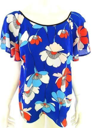 Шикарная фирменная блуза в цветочный принт