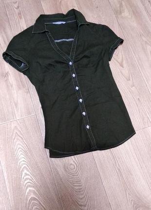 Рубашка блуза terranova хаки