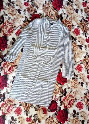 Удлиненная рубашка mango р-р l