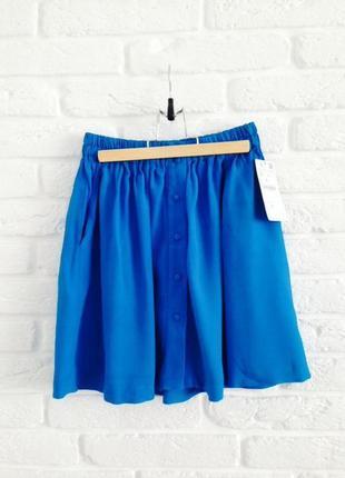 Очень красивая легкая юбка с карманами и пуговицами спереди высокая талия zara