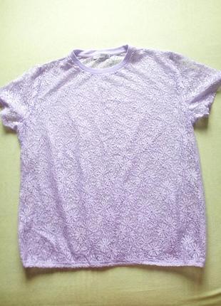 Нежная гипюровая футболка