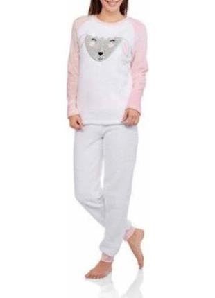 Теплая пушистая пижама, размер xl
