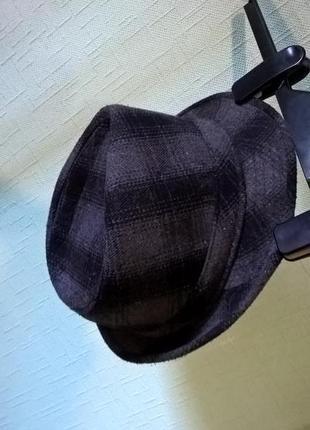 Шляпа шапка клетка челентано трилби