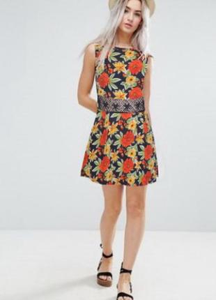 Шикарное платье ax paris (хлопок)