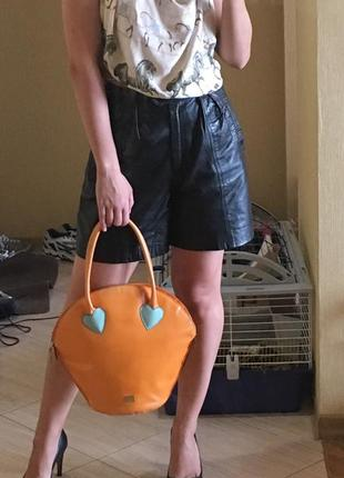 Оригинал moschino вместительная большая оранжевая весёлая сумка