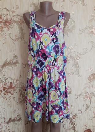 Яркое платье сарафан р-р 52-54