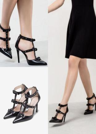 Босоножки туфли с тонкими ремешками с бантиками uterque 41p
