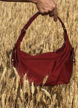 Красная летняя итальянская сумка