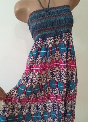 Новый сарафан юбка в этно стиле -отлично подойдет на море - хлопок 100%
