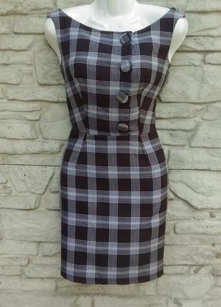Распродажа!!! платье-сарафан офисного стиля в клеточку love