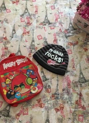 Шапка adams на 1-3 г + рюкзак в подарок!
