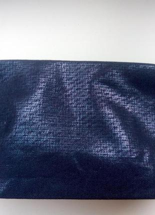 Косметичка biotherm новая сток тканевая синяя  12,5х25 см
