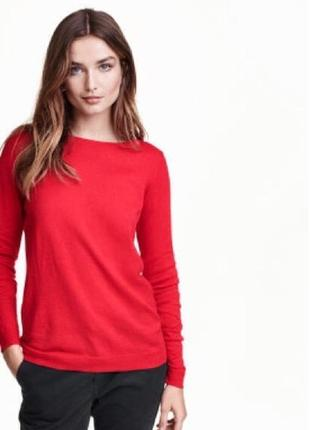 Красный свитшот джемпер  кофта h&m