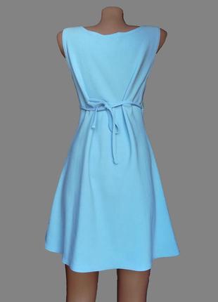 Шикарное платье небесного голубого  цвета на завязках