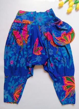 Индийские хлопковые штаны галифе