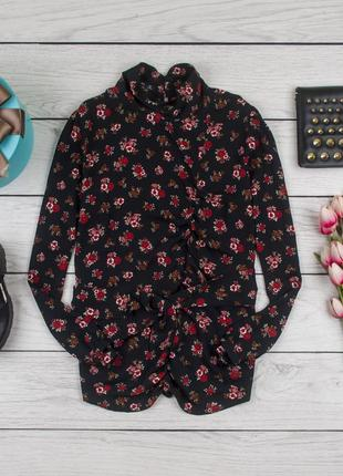 Блуза в цветочный принт от zara рр l