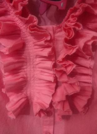 Розовая и легкая, приталенная блузка, m-l4 фото