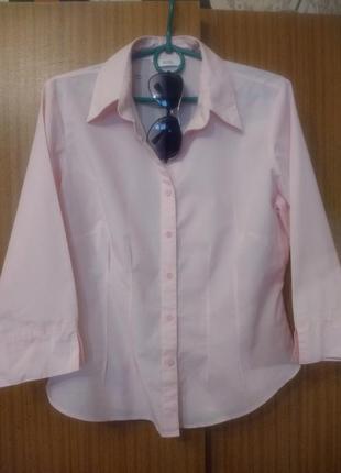 Легкая пудровая рубашка, m&s,12размер