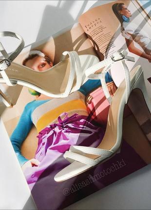 Білі босоніжки лодочки на шпильці босоножки белые туфли 38размер женская обувь украина