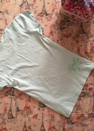Нежная мятная футболка рр m-l