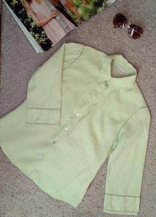 'jackpot' дания натуральная100% лен, великолепная рубашка/блузка с отделкой ручной работы
