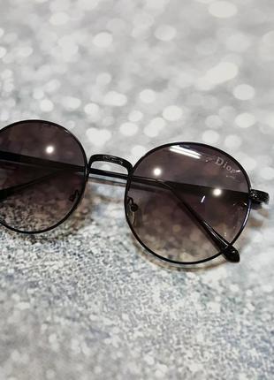 Круглые солнцезащитные очки  черные , к.  2539