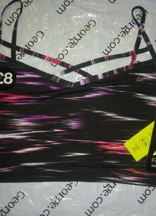 F&f active space dye light impact crop top , xl